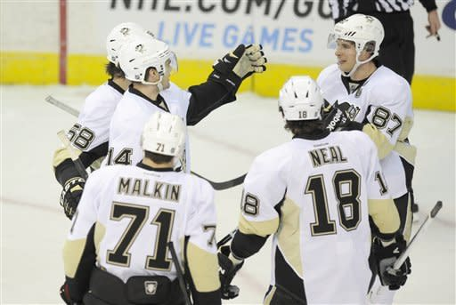 Penguins get 3rd win in row, topping Capitals 6-3