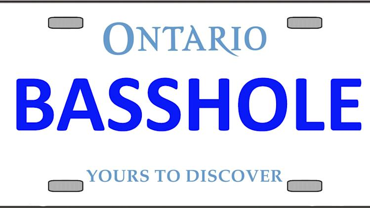 Ontario vanity plates you're not allowed to have