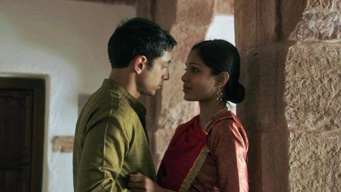 """In this film image released by Tribeca Film Festival, Riz Ahmed, left, and Freida Pinto are shown in a scene from """"Trishna,"""" a film by Michael Winterbottom which premiered at the Tribeca Film Festival in New York. (AP Photo/Tribeca Film Festival, Marcel Zyskind)"""