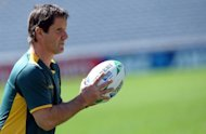 Wallabies coach Robbie Deans, pictured here in October 2011, said Tuesday he was under no illusion about the threat posed by Six Nations champions Wales, admitting they are fired up and out to prove a point against Australia