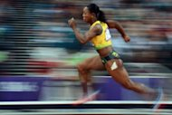 Jamaica's Veronica Campbell-Brown competes in the women's 200m semi-finals at the athletics event during the London 2012 Olympic Games on August 7. Campbell-Brown will attempt an unprecedented Olympic treble on Wednesday as Usain Bolt prepares to edge closer to his second gold of the Games