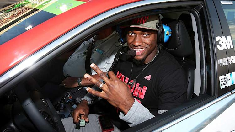 RGIII enjoying race day more than anyone else