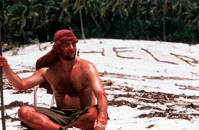 Tom Hanks as an isolated man forced to transform himself in order to survive in 20th Century Fox's Cast Away