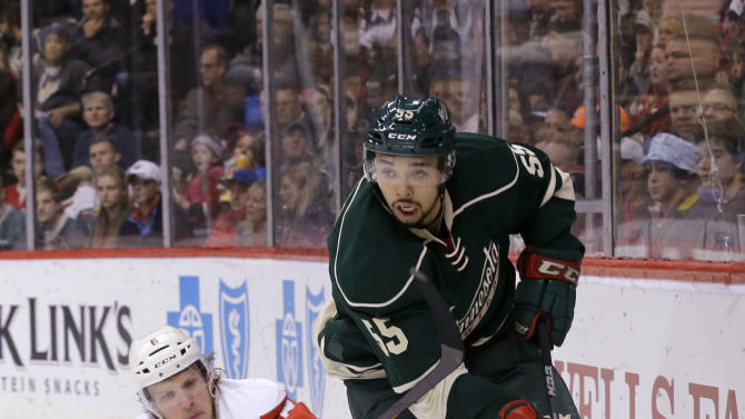 Red Wings beat Wild 3-2 in 8th round of shootout