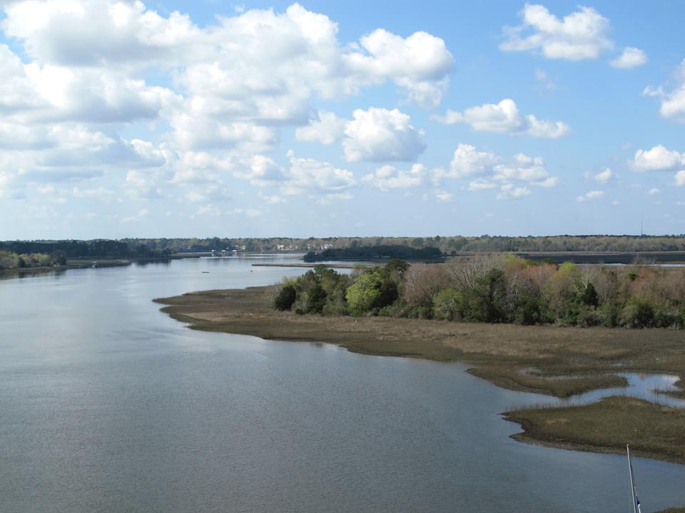 In this March 14, 2012 photo, the Stono River flows west of Charleston, S.C. Just upstream is the area where the Stono Rebellion, the largest slave insurrection in British North America, took place in 1739. (AP Photo/Bruce Smith)