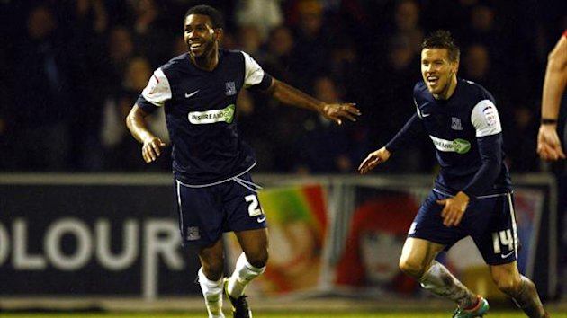 Gavin Tomlin, left, has scored 11 goals in 10 games for Southend