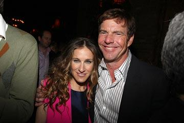 Sarah Jessica Parker and Dennis Quaid at the New York City premiere of Miramax Films' Smart People – 03/31/2008 Photo: Jason Kempin, WireImage.com