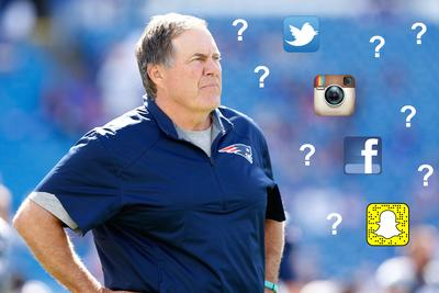 SnapFace, MyFace, InstantFace and other social media platforms Bill Belichick has invented to make it clear he hates the Internet