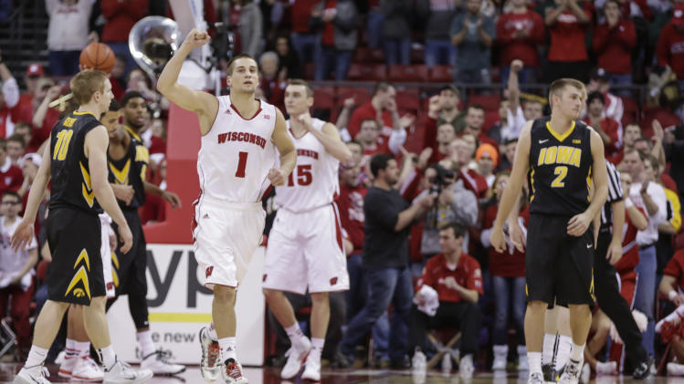 No. 4 Wisconsin beats No. 22 Iowa 75-71
