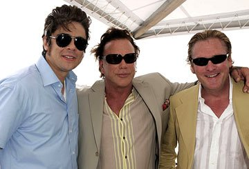 Benicio Del Toro, Mickey Rourke and Michael MadsenMiramax Luncheon Cannes Film Festival - 5/17/05