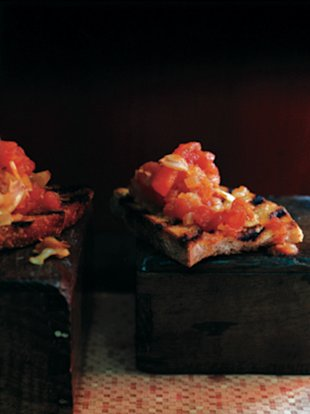 Stewed-Tomato Bruschetta