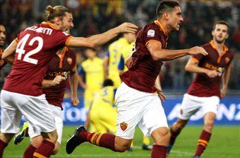 Roma 1-0 Chievo: Borriello heads home to make it 10 wins from 10