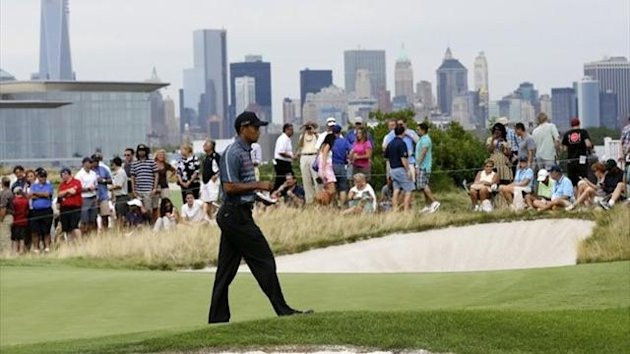 Tiger Woods at Liberty National for The Barclays