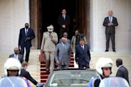 <p>Mali's Prime Minister Cheikh Modibo Diarra (C) leaves after a meeting with France's foreign minister. France would provide logistical support for any military intervention in northern Mali, which was overrun by Islamist militants this year, Defence Minister Jean-Yves Le Drian said Thursday.</p>