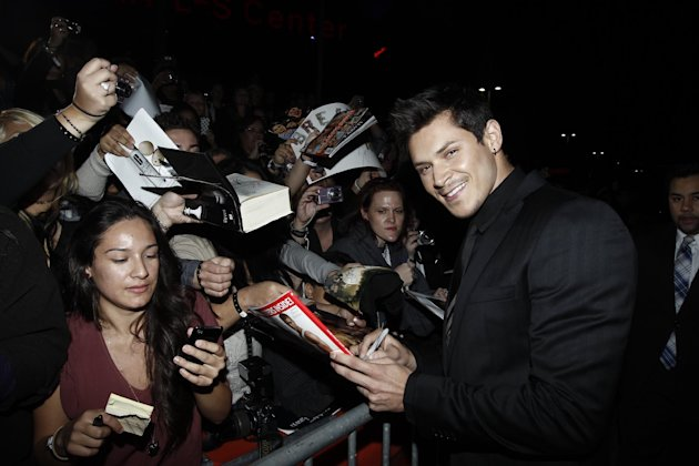 "Alex Meraz arrives at the world premiere of ""The Twilight Saga: Breaking Dawn - Part 1"" on Monday, Nov. 14, 2011, in Los Angeles. (AP Photo/Matt Sayles)"