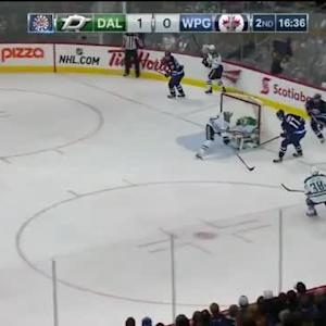 Kari Lehtonen Save on Adam Lowry (03:25/2nd)