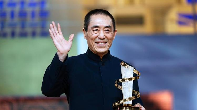 Chinese director Zhang Yimou receives an award on December 2, 2012 at the 12th Marrakesh International Film Festival in Morocco