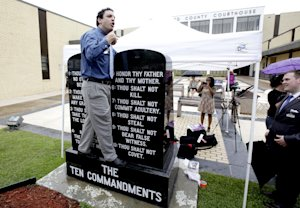 David Silverman, president of American Atheists, stands …