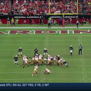 Cardinals block 49ers field goal attempt