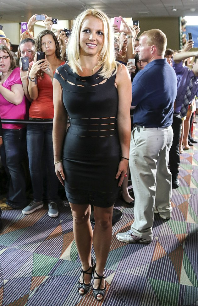 Britney Spears in black dress at X Factor auditions