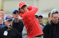 VIRGINIA WATER, ENGLAND - MAY 23:  Rory McIlroy of Northern Ireland tees off on the 1st during the first round of the BMW PGA Championship on the West Course at Wentworth on May 22, 2013 in Virginia Water, England.  (Photo by David Cannon/Getty Images)