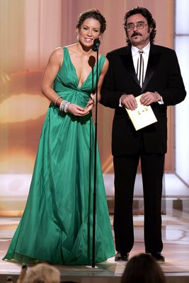 Presenters Evangeline Lilly and Ian McShane