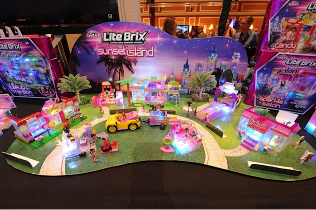 IMAGE DISTRIBUTED FOR CRA-Z-ART - Toymaker Cra-Z-Art empowers girls and boys to build their worlds with light using Lite Brix construction sets seen at CES Showstoppers on Tuesday, Jan. 8, 2013 in Las