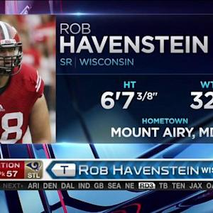St. Louis Rams pick offensive lineman Rob Havenstein No. 57 in the 2015 NFL Draft