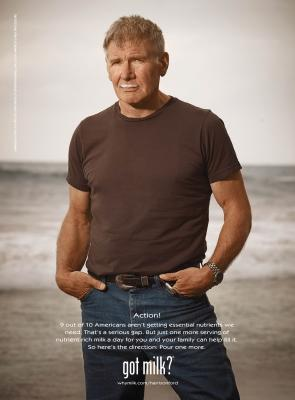 "Harrison Ford's ""Got Milk?"" ad (July 2011) -- Got Milk"