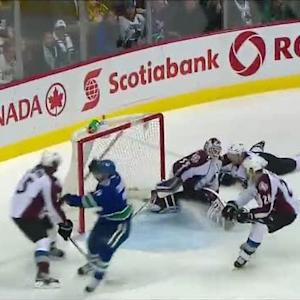 Mike Santorelli scores nifty goal on Giguere