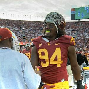 University of Southern Californa defensive end Leonard Williams college highlights
