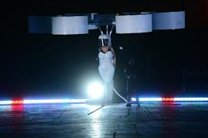 "US singer Lady Gaga flies in a ""Volantis"", a concept …"