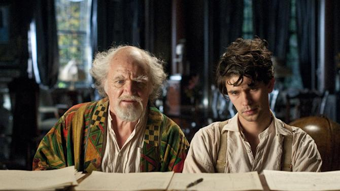 "This film image released by Warner Bros. Pictures shows Jim Broadbent, left, and Ben Whislaw in a scene from ""Cloud Atlas,"" an epic spanning centuries and genres. The film is an epic of shifting genres and intersecting souls that features Tom Hanks, Halle Berry, Jim Broadbent, Hugh Grant, Hugo Weaving, Ben Whishaw, Jim Sturgess, James D'Arcy, Doona Bae, Keith David, Sarandon and others in multiple roles spanning the centuries. (AP Photo/Warner Bros. Pictures, Reiner Bajo)"