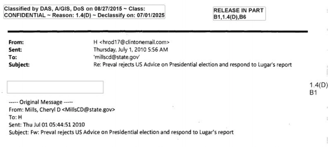 clinton email redacted