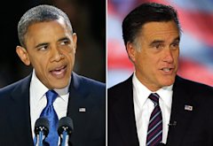 President Barack Obama, Mitt Romney | Photo Credits: Scott Olson/Getty Images; Joe Raedle/Getty Images
