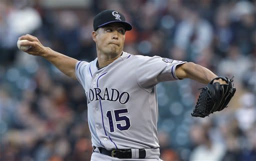 Scutaro's HR in 9th lifts Rockies past Giants 5-4