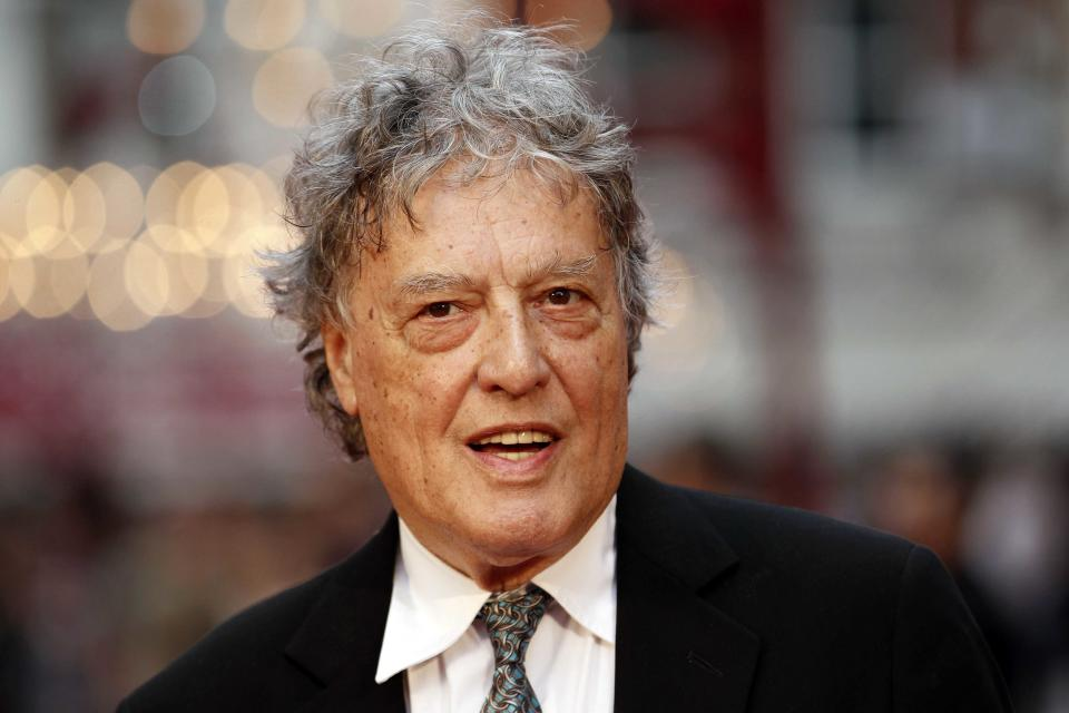 "FILE - This Sept. 4, 2012 file photo shows British playwright Tom Stoppard at the world premiere of ""Anna Karenina"" in London. Stoppard's latest project is a five-part miniseries, ""Parade's End,"" premiering Tuesday, Feb. 26, on HBO. (AP Photo/Sang Tan, file)"