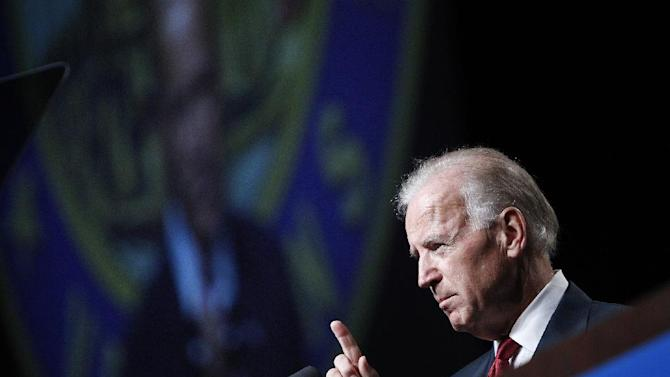 Vice President Joe Biden speaks at the Disabled American Veterans National Convention in Las Vegas Saturday, Aug. 4, 2012. Vice President Joe Biden is praising America's veterans for the sacrifices they've made on behalf of their country. (AP Photo/Las Vegas Review-Journal, John Locher) LOCAL TV OUT; LOCAL INTERNET OUT; LAS VEGAS SUN OUT
