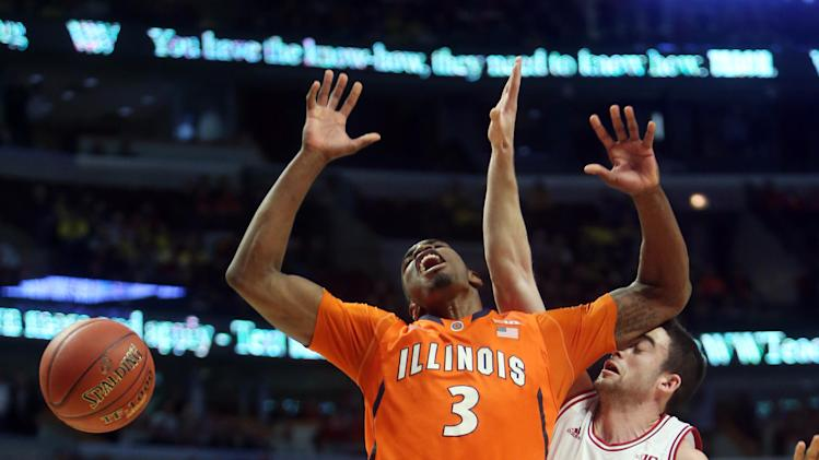 NCAA Basketball: Big Ten Tournament-Indiana vs Illinois