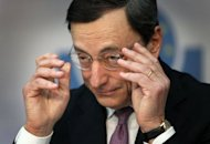 President of the European Central Bank (ECB) Mario Draghi during a press conference early last month. The European Central Bank is set to hold fire at its pre-Easter policy-setting meeting on Wednesday, as it continues to assess the impact of recent anti-crisis moves, analysts say