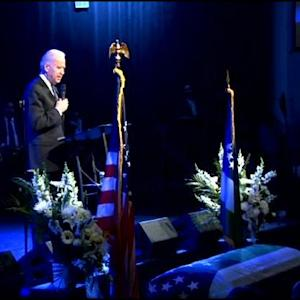 Funeral Service For Officer Rafael Ramos At Christ Tabernacle Church In Glendale