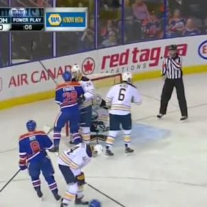 Jhonas Enroth Save on Anton Lander (09:26/1st)