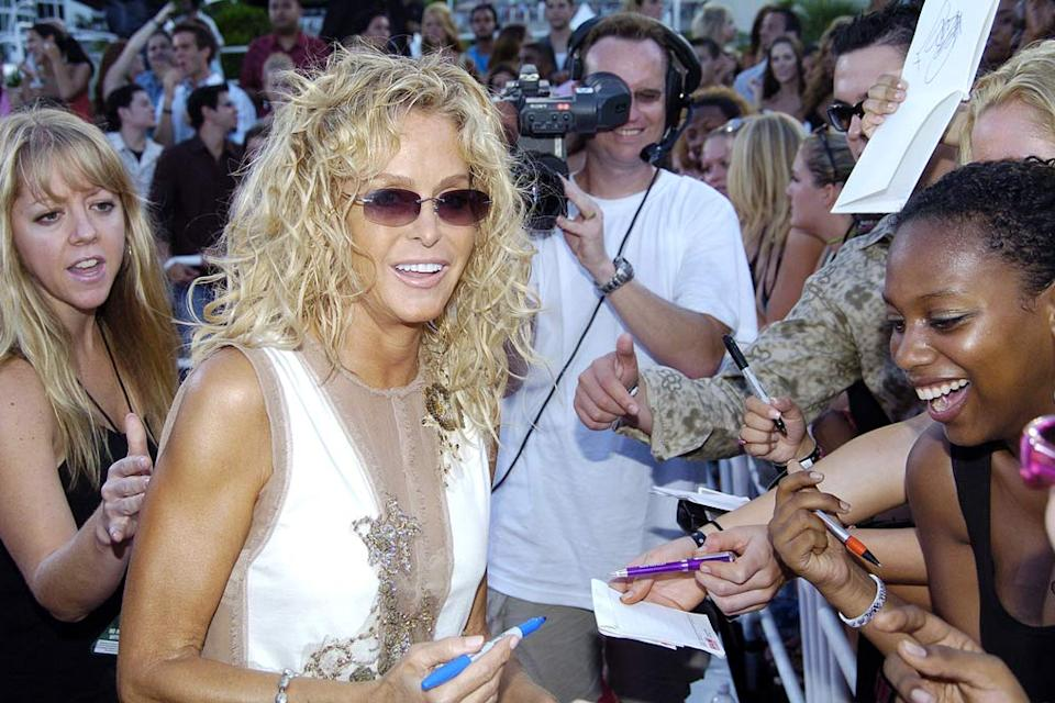 Farrah Fawcett at the 2004 MTV Video Music Awards in Miami, Florida United States on August 29, 2004.