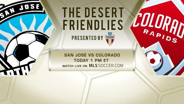 Preseason: Watch SJ-COL on MLSsoccer.com, 1 pm ET