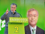&lt;p&gt;Moon Jae-In, of the Democratic United Party, speaks during his election campaign in Incheon on December 17, 2012. Voters face a clear choice between the ruling conservative party candidate Park Geun-Hye and her liberal rival from the main opposition party, Moon.&lt;/p&gt;