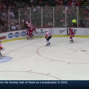 Justin Abdelkader Hit on Nick Schultz (10:22/1st)