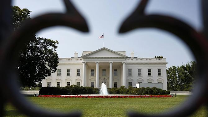 """FILE-In this Thursday, June 28, 2012, file photo, The White House is seen in Washington. High unemployment threatens not only President Barack Obama's re-election prospects. It will also bedevil whoever occupies the White House for the next four years. According to 32 economists surveyed by the Associated Press, the unemployment rate, now 8.2 percent, will exceed its """"normal"""" range of 5 to 6 percent until 2015 or later. The presidential winner in November will serve through 2016. (AP Photo/Pablo Martinez Monsivais, File)"""