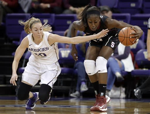 No. 4 Stanford women surge past Washington 71-36