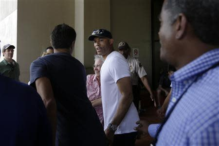 Former Yankees closer pitcher Mariano Rivera is seen during a visit with the New York Yankees team at the Panama Canal in Panama City
