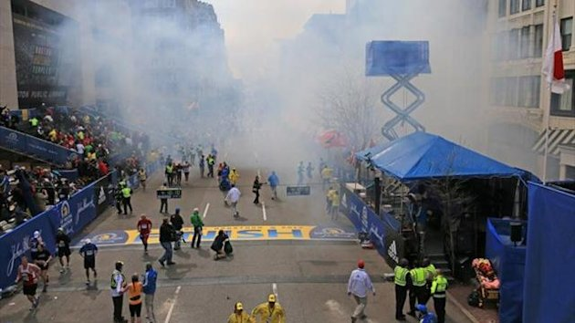 Bomb blasts on Boston Marathon finish line